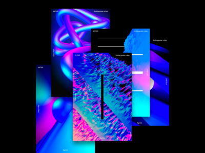 Cool Space - Poster Series blue pink space cinema4d