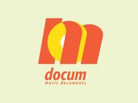 "Logo for ""docum - Documentary Music Channel"""