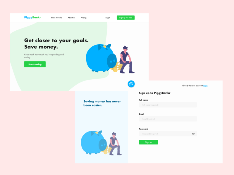 Landing page finance signup landingpage ui ux webdesign xddailychallenge
