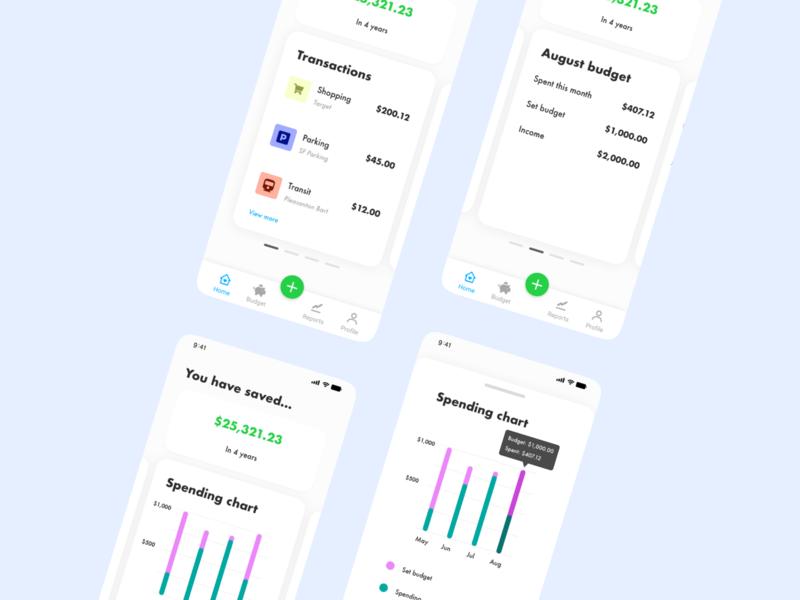 Finance budget mobiledesign design ui ux xddailychallenge financeapp