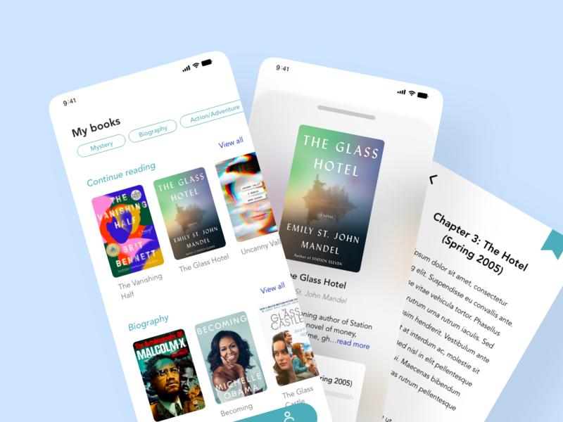 eBooks design mobiledesign ui ux xddailychallenge ebooks