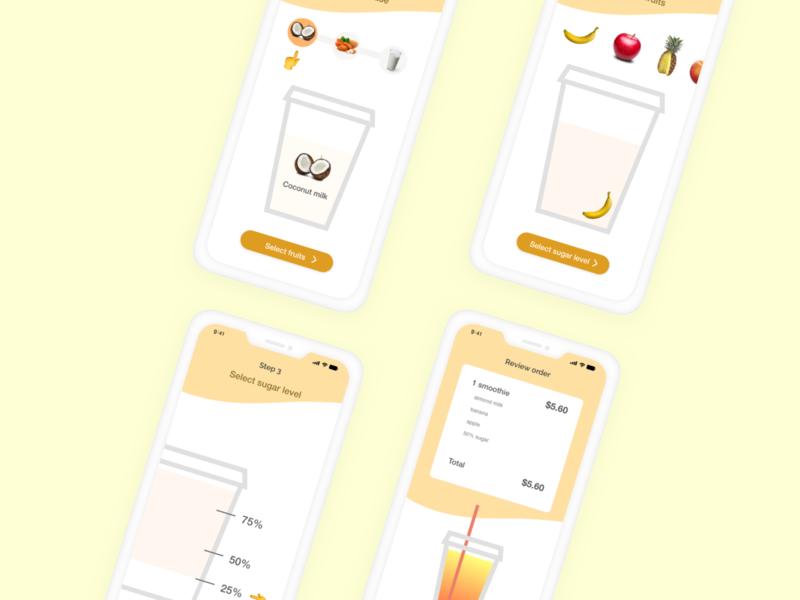 Smoothie Order xddailychallenge mobiledesign ui ux making smoothie smoothieorder