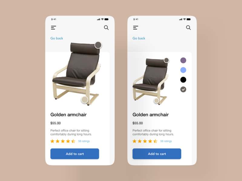 Furniture E-commerce design xddailychallenge ui ux mobiledesign e-commerce furniture
