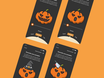 Pumpkin Carving Creator uxui design ui ux mobiledesign mobile creator carving halloween pumpkin xddailychallenge