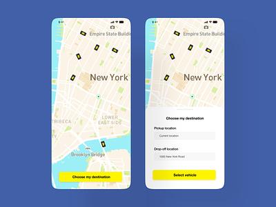 Car-ride Sharing App uxui mobile design mobiledesign xddailychallenge ui ux car ride sharing