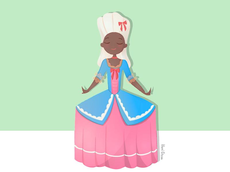 Baroque Aristocracy lady aristocracy baroque vector illustration