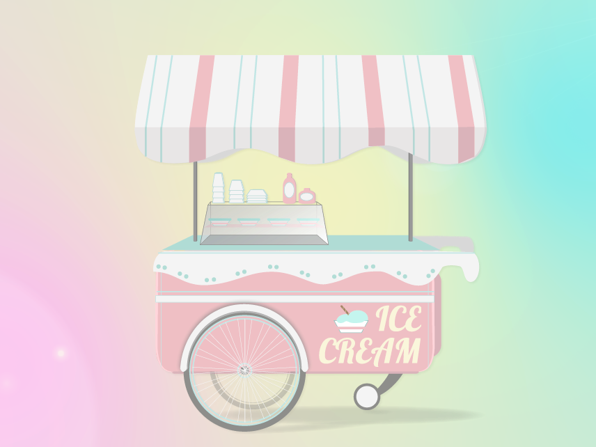 Ice Cream Truck animation illustration vector ice cream truck ice cream