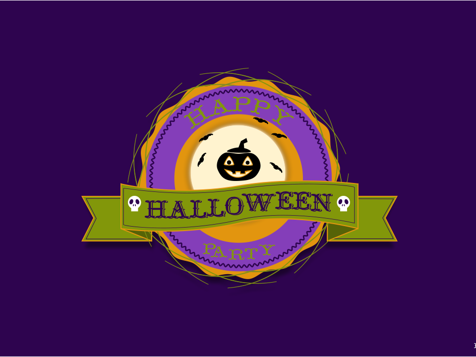 Label Halloween label design label animation vector illustration