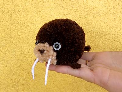 Walrus Pom-Pom walrus pom-pom yarn the100dayproject handmade
