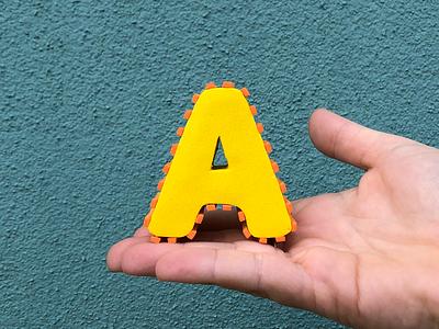 A! 36daysoftype alphabet letter foam handmade
