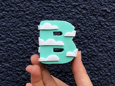 B! clouds 36daysoftype block alphabet letter foam