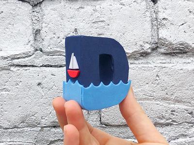 D! ⛵️ ocean boat 36daysoftype handmade