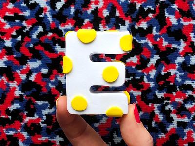 E! 🍳 handmade foam yolk egg 36daysoftype