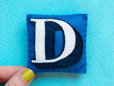 D / Didot Bold didot felt sewing handmade 36daysoftype