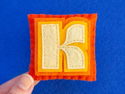 K / Kare type typography kare sewing felt handmade 36daysoftype