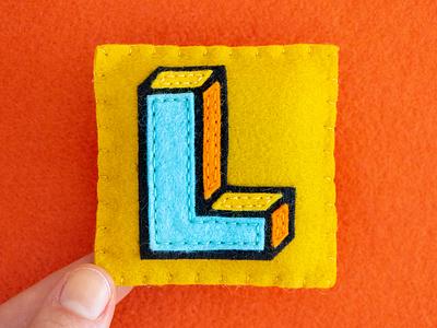 L / Lalezar lalezar typography type felt sewing handmade 36daysoftype