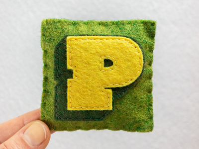 P / PowerLift Tight powerlift typography type felt sewing handmade 36daysoftype