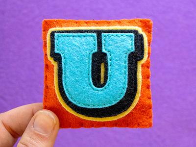 U / Ultra Pro typography type ultra pro 36daysoftype sewing felt handmade