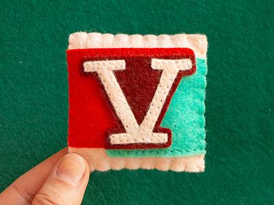 V / Valgal Bold valgal typography type sewing felt handmade 36daysoftype
