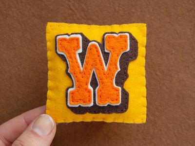 W / West Hood Three west hood typography type sewing felt handmade 36daysoftype