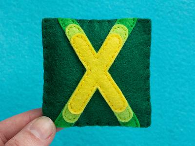 X / Xenara Bold xenara typography type sewing felt handmade 36daysoftype