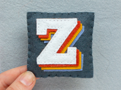 Z / Zona Black Slab zona sewing felt handmade typography type 36daysoftype