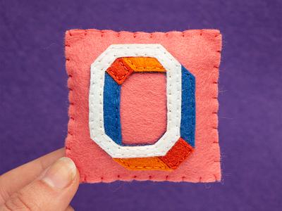 0 / Zero Closed Bold 36daysoftype zero letter alphabet sewing felt handmade