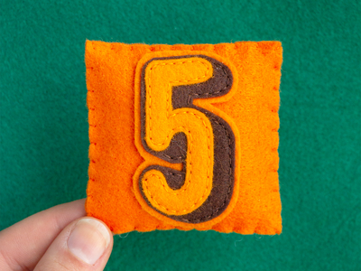 5 / Studio Five Bold 36daysoftype letter number alphabet sewing felt handmade