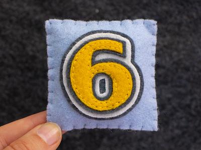 6 / Crestview Six JNL 36daysoftype six number alphabet sewing felt handmade