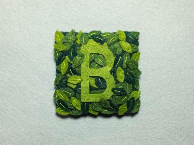 B 36daysoftype felt handmade b gt pressura