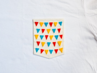 003 👕🚩 bunting flags the100dayproject handmade felt pocket t-shirt