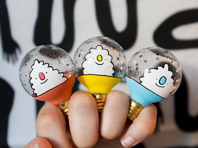 Yeti Bulbs 💡 posca yeti lightbulb glass