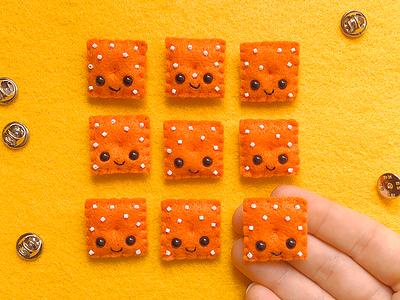 Cheez-It Felt Pins cheezit sewing felt handmade
