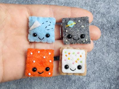 Felt Pin Pals lapel pin pin sewing felt face handmade