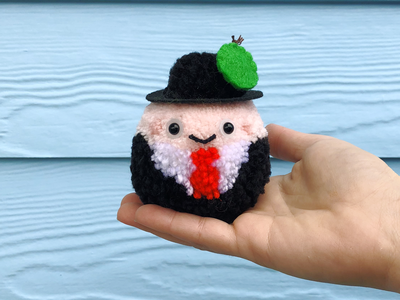 Magritte Pom-Pom son of man magritte pom-pom yarn the100dayproject handmade