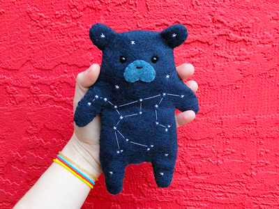 Ursa Major Felt Bear constellation ursa major ursa bear sewing felt handmade