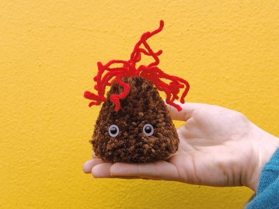 Volcano Pom-Pom lava volcano pom-pom yarn the100dayproject handmade
