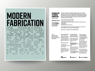 Introduction to Modern Fabrication for Women Flyer grid typography flyers