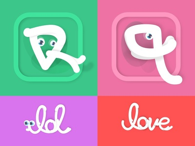 """icon apps ios, my """"paper"""" animals series art direction branding design icons ios apps icon"""