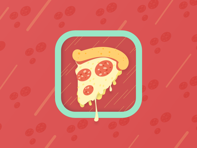 Pizza on the fly - delivery app icon design branding ios icon app pizza