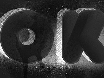 okbye : personal exploration exploration personal design spray 3d type