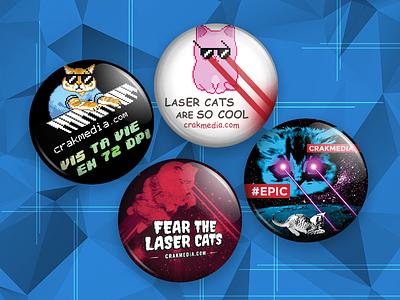Pins - Cat Series events promotion designer da white black red quotes branding art pins design