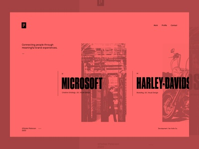 Portfolio Concept v2 grid dallas parker peterson design personal brand brand layout typography ui design portfolio design portfolio website design web design web ux ui