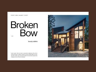 Broken Bow Concept web ui design dallas parker peterson oklahoma travel uidesign typography type web design ux ui