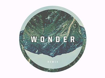 Wonder album art boombox cartel art conceptual art wonder remix nature type digital texture imagery
