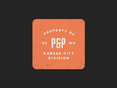 Pedal & Pen 2 mark badge branding typography pedal  pen kansas city missouri orange pp