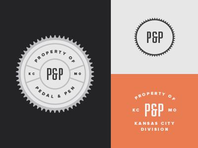 Pedal & Pen 3 branding logo mark badge seal brand extension bikes sketching kansas city missouri pedal pen