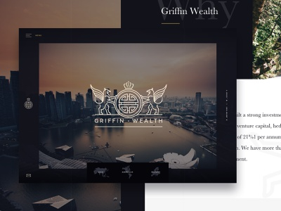 Investment Group Concept offset blue the old state dallas design wealth ui web design layout clean experimental investment web