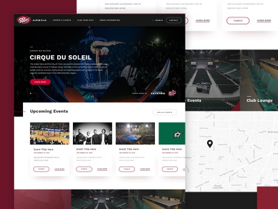 Dr Pepper Arena ux ui dallas red arena sports typography layout web design web parker peterson the old state entertainment clean