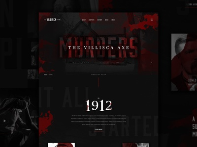Villisca Axe Murders // Mocktober typography ax axe midwest iowa blood dallas web design ux ui murder texture type villisca halloween layout design web mocktober